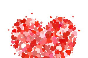 Heart made up of little hearts
