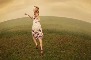 hippie girl in the field
