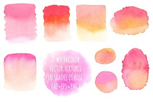 Pink Watercolor Vector Backgrounds