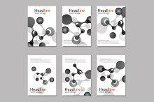 Science molecule cover template