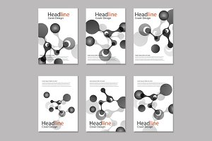 Science molecule cover template
