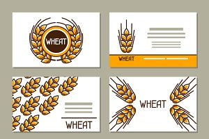 Business cards with wheat.