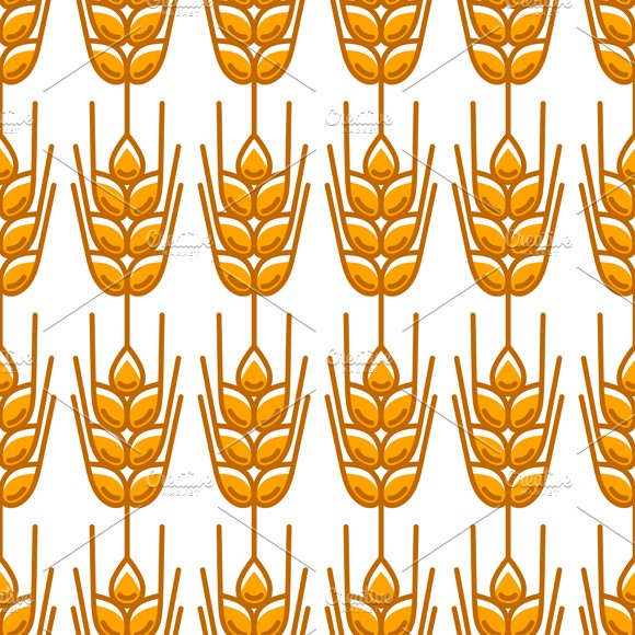 Seamless patterns with wheat. in Patterns