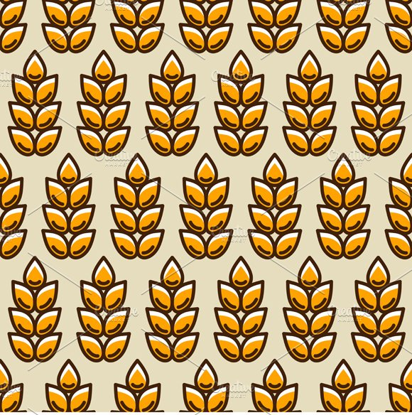 Seamless patterns with wheat. in Patterns - product preview 1