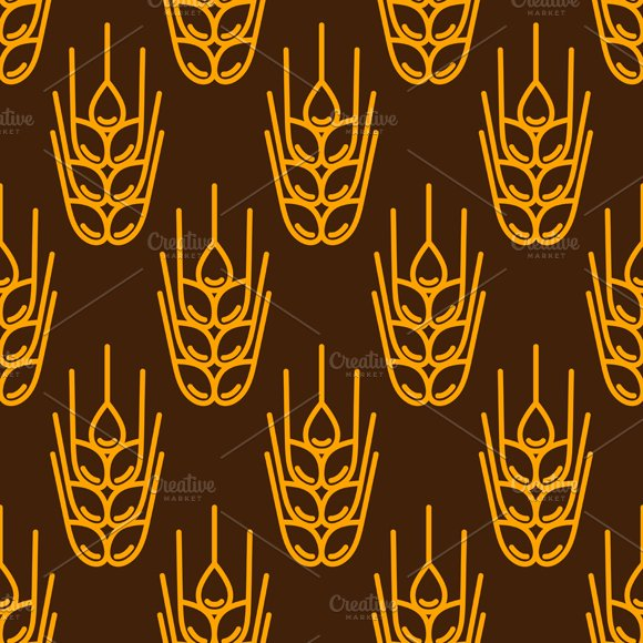 Seamless patterns with wheat. in Patterns - product preview 2