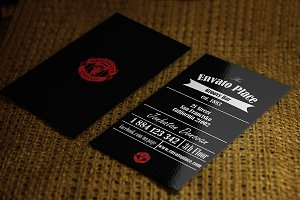 Retro Business card Black Edition
