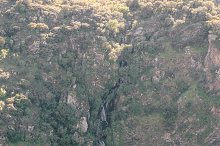 Famous waterfall in Pozo de los humos, Arribes del duero, Salamanca, Castilla y Leon.