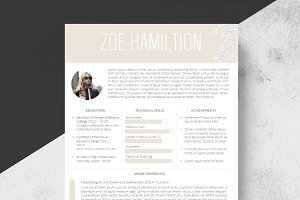 Honey Resume Template + Cover Letter
