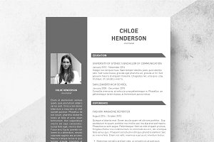 Tone Resume Template + Cover Letter