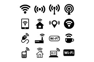Wi-Fi Web Icons Set