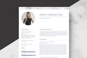 Marble Resume Template+Business Card