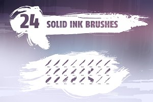 Solid ink brush pack