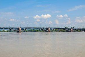 Rhine river in Mainz