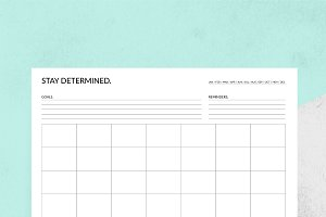 Determined Planner Set