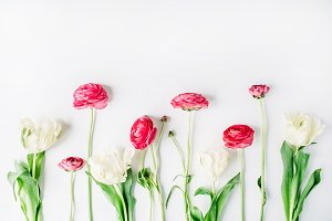 Ranunculus and tulips
