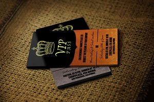 Business Vip Pass Card - Gold&Silver