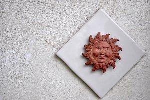 plastic sun on tile