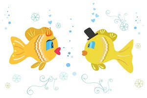 Cartoon Fish Vector Illustration