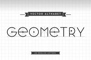 Alphabet letters Geometry