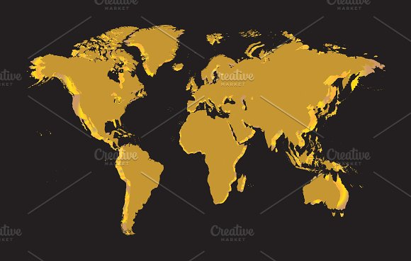World map gold vector graphics creative market world map gold vector graphics gumiabroncs Gallery