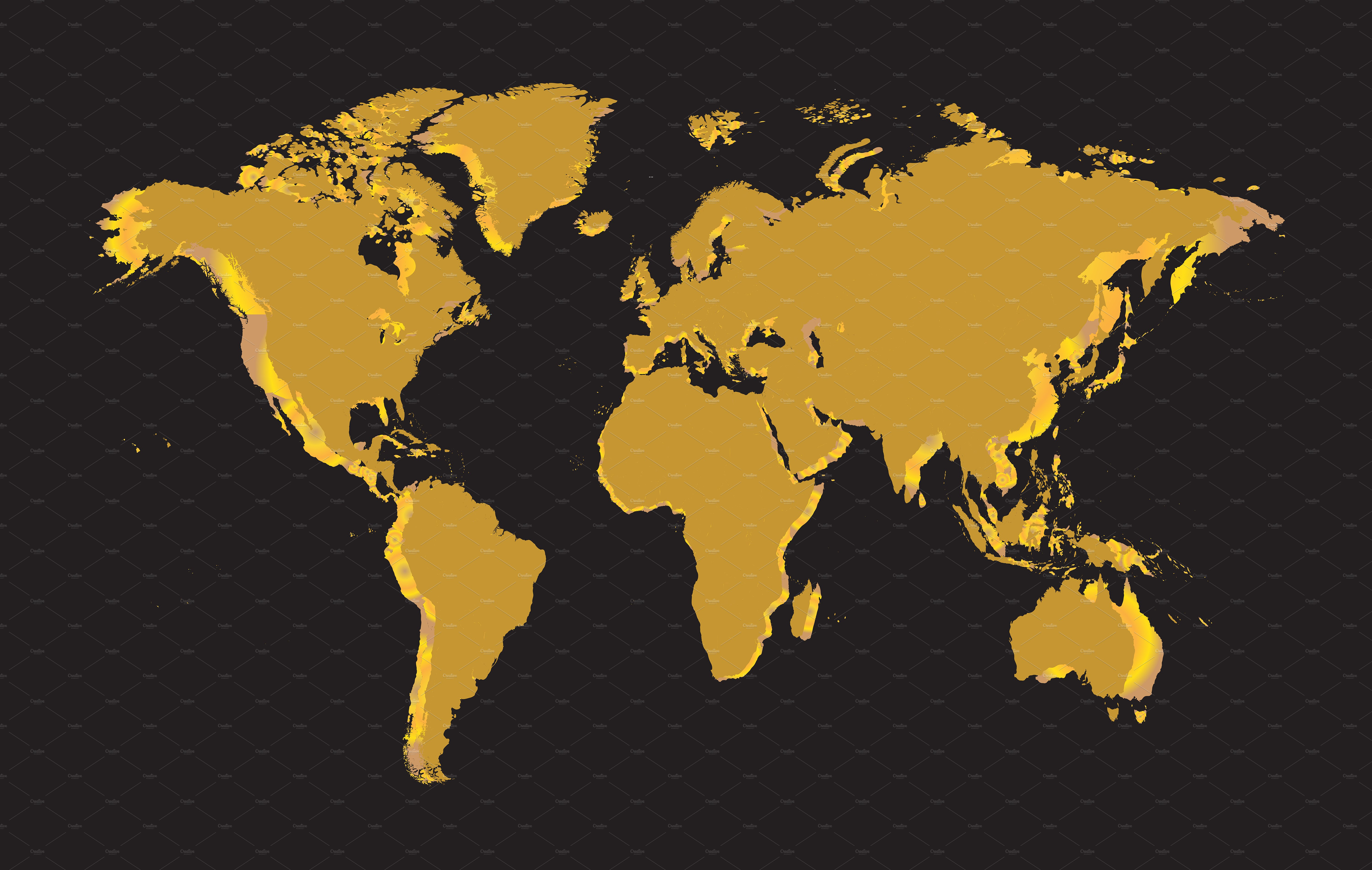 World map gold vector graphics creative market gumiabroncs Images