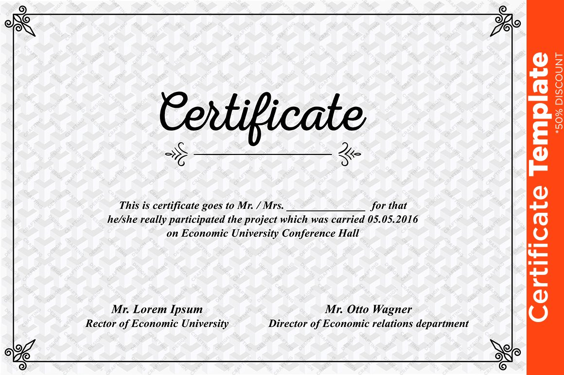 Certificate template psd templates creative market yelopaper Image collections