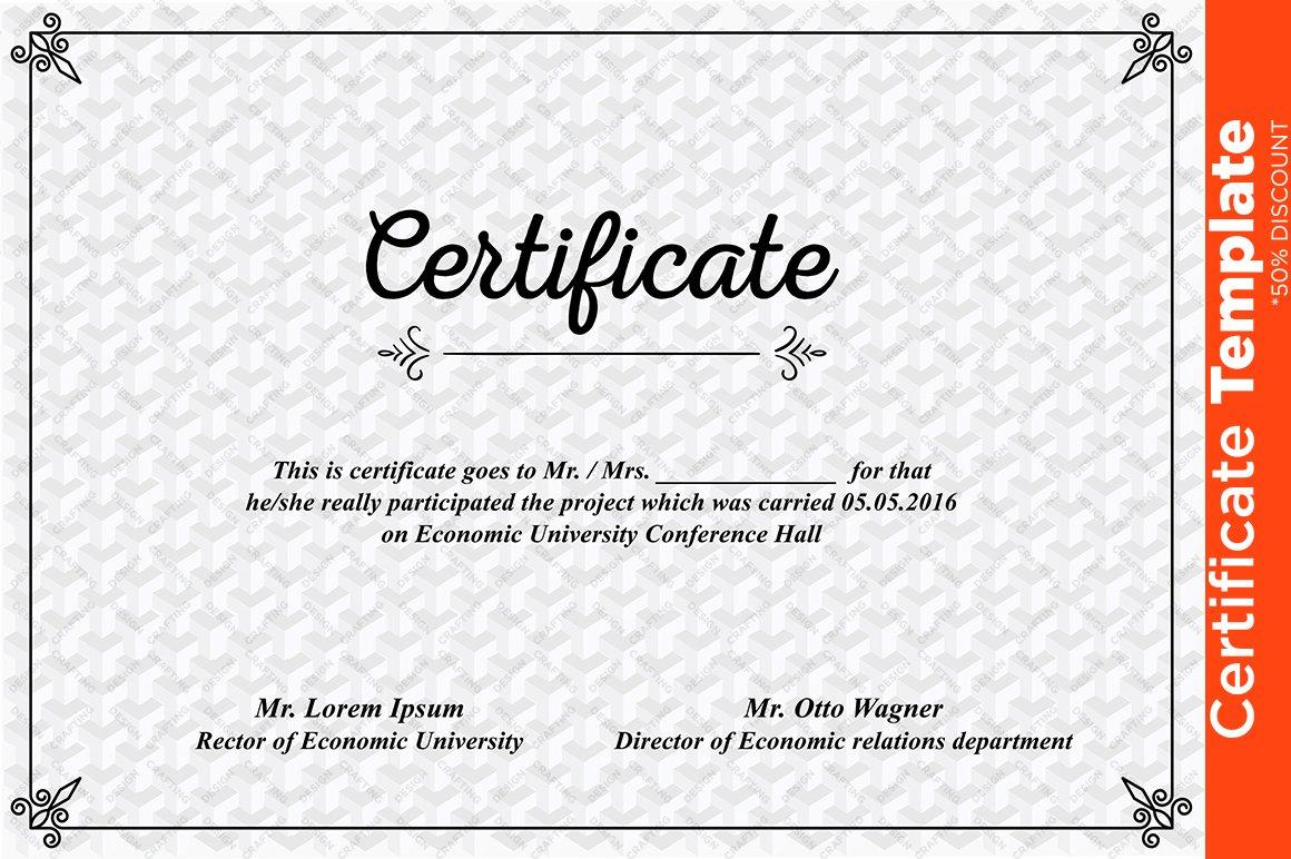 Certificate template psd templates creative market alramifo Choice Image