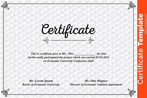 Certificate template psd templates creative market certificate template psd templates yadclub Image collections