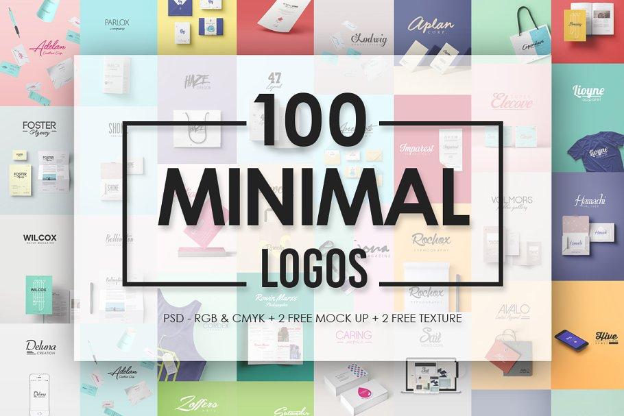 1c9f8e3d82 Minimal Logos ~ Logo Templates ~ Creative Market