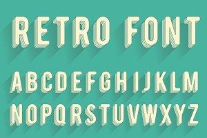 Retro poster alphabet