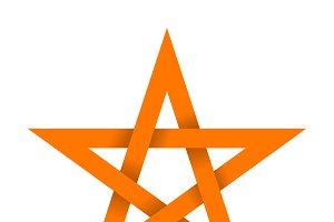 Orange star with shadow