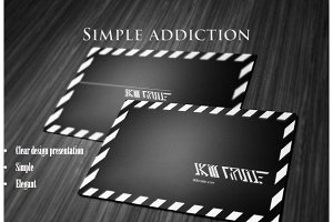 Simple Addiction Businesscard Mockup