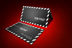 Red Business card Mock up