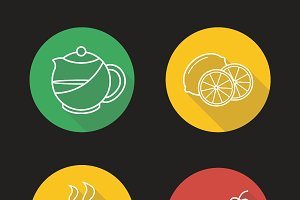 Tea icons. Vector