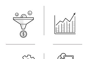 Business icons. Vector