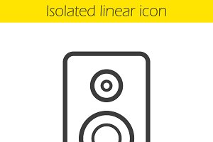 Speaker icon. Vector