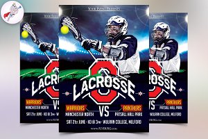 Lacrosse Sports Flyer Template