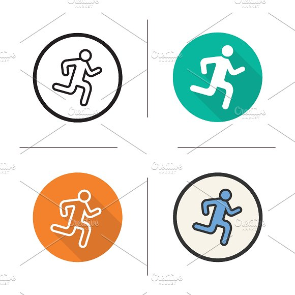 Running man icons. Vector - Icons