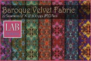 22 Baroque Velvet Fabric Textures