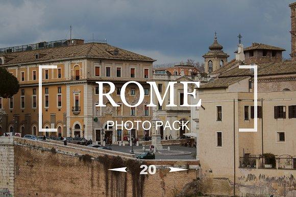 20 Rome Photos Photo Pack