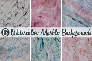 6 Watercolor Marble Backgrounds