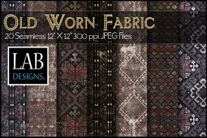 20 Old Worn Fabric Textures