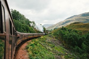 Train Ride through Scotland