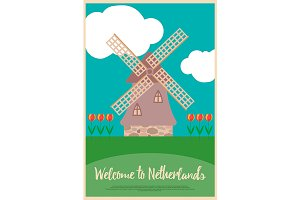 Poster Welcome to Netherlands