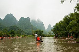 Yangshuo Bamboo River Rafting, II