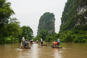 Yangshuo Bamboo River Rafting, III