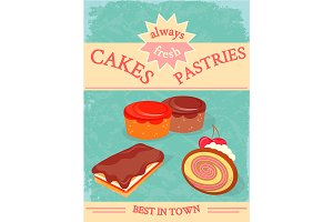 Cakes and Pastries Poster
