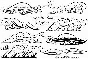 Doodle Sea Clipart