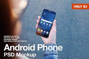 Android Galaxy S7 Mockup