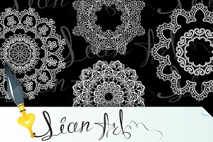 Round Frames - floral lace ornament